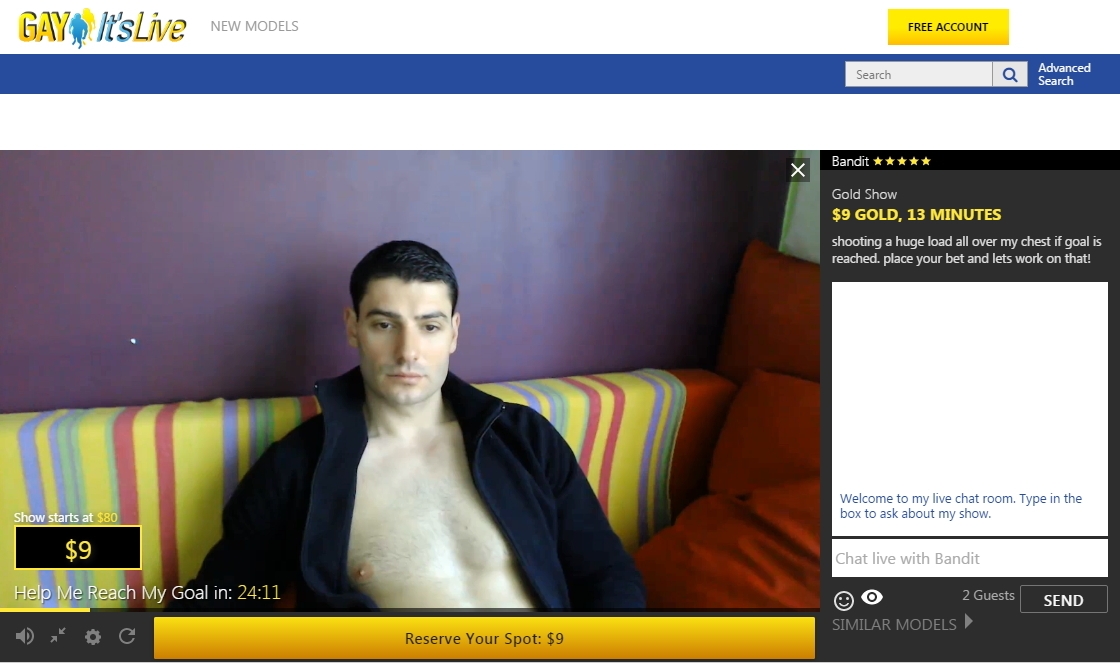 Gay ItsLive.com – Gold Show